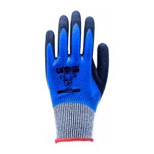 UfoCut Handschuhe Nitrilblau Doppelbeschichtung komplette Anti-Schnitt-Ergänzung D grau Ufo EN388:2016.