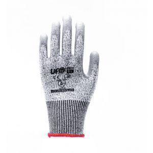 Graue UfoCut-Handschuhe Polyurethan-Anti-Schnitt D Ufo EN388:2016, 1KF=12paar