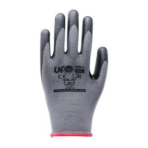Handschuhe aus dickem schwarzem Nylon und Spandex, beschichtet mit einem Nitrilschaum und Nitriltüpfel. EN366:2016 KF:12paar