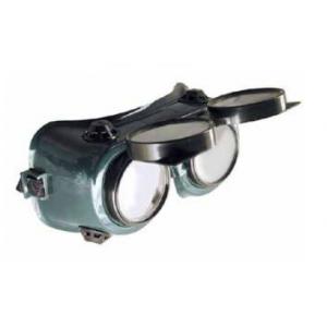 Schweißerbrille mit hochklappbaren Gläsern der 1. Schutzklasse