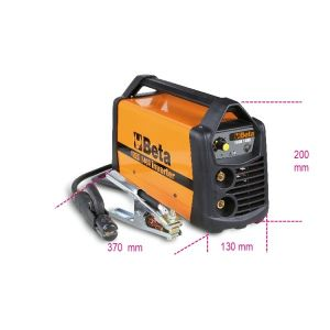 Inverter-Schweißgerät mit Gleichstromausgang (DC) zum MMA- und TIG-Elektrodenschweißen auf Stahl.