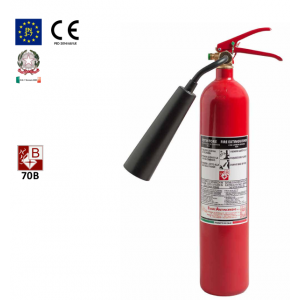 Tragbarer CO2- Feuerlöscher 2 kg 70B nach UNI EN 3-7
