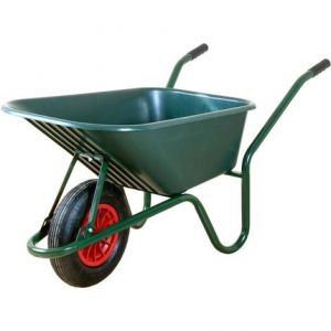 Stahl-Schubkarre 85l grün lackiert