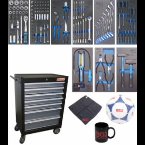 Werkstattwagen 7 Schubladen mit 120 Werkzeugen