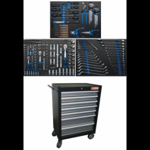 Werkstattwagen 7 Schubladen mit 263 Werkzeugen