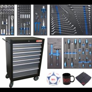 Werkstattwagen 7 Schubladen mit 129 Werkzeugen