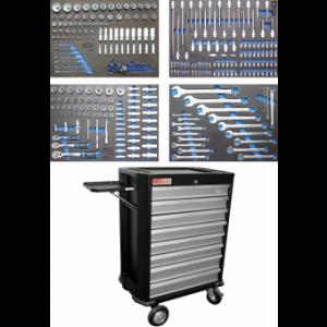 Werkstattwagen 8 Schubladen mit 293 Werkzeugen