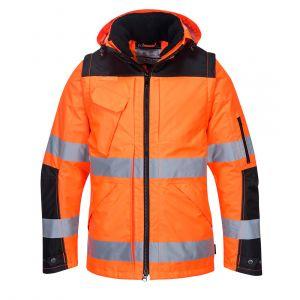 C469 - Hi-Vis Pro 3-in-1 Jacke Orange/Schwarz - Gelb/Schwarz