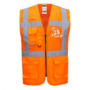 C496 - Warnschutz Madrid Executive Netzweste Madrid Orange/Gelb