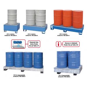 Compaktwannen für 200-Liter-Fässer