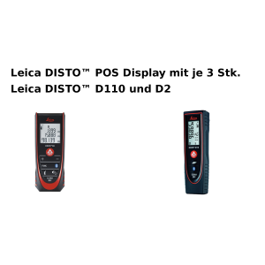 Leica DISTO™ POS Display mit je 3 Stk. Leica DISTO™ D110 und D2 Set