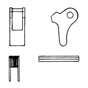 Ersatzteilgarnitur für Self Locking Haken