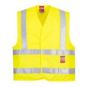 FR75 - Warnschutz-Weste - flammhemmend Orange/Gelb