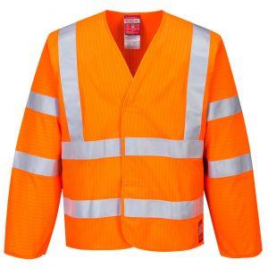 FR85 - Antistatische, flammhemmende Warnschutz-Jacke Orange/Gelb