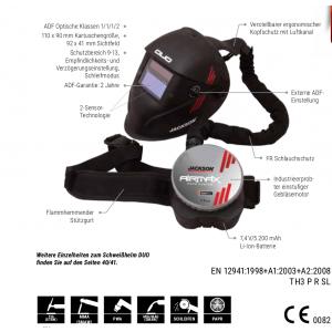 AIRMAX PAPR-System mit DUO PAPR-Schweißhelm TH3 P R SL
