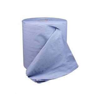 Industrie Putzpapierrolle, 3-lagig, blau, ca. 1000 Abrisse 36 x 36 cm