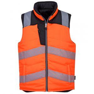 PW374 - PW3 Warnschutz Bodywarmer wendebar Orange/Schwarz-Gelb/Schwarz