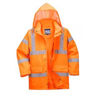RT63 - Atmungsaktive Warnschutzverkehrsjacke (interaktiv) Orange