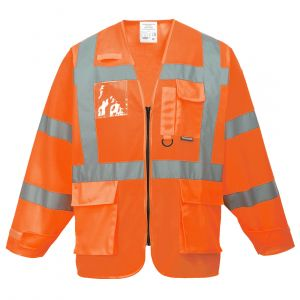 S475 - Warnschutz-Jacke Executive Orange/Gelb
