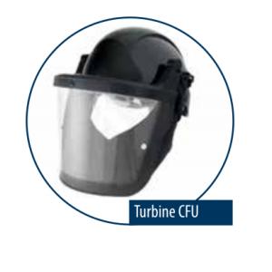 Atemschutzhelm mit Visier KIT TURBINE CFU für Asbestarbeiten