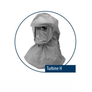 Atemschutzhaube Turbine H Tyvek F für Asbestarbeiten